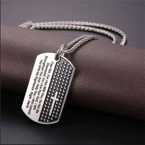 Color : Silver DLYHSW Mens Necklace Stainless Steel Half Buddha Devil Good and Evil Between The Pendants Titanium Steel Mens Necklace